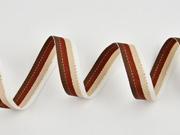 Ripsband gestreift 16 mm, dunkelbraun rotbraun