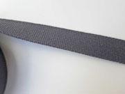 Gurtband Baumwolle 30 mm, dunkelgrau