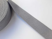 Gurtband Baumwolle 40 mm, mittelgrau