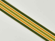 Ripsband Streifen 16 mm, grün ocker