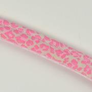 Paspelband Leoparden Muster Animal Print, rosa beige