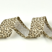 Schrägband Leoparden Muster Animal Print, beige braun