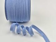 Paspelband Vichy Karo, jeansblau