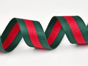 Gurtband Streifen 3 cm, grün rot grün
