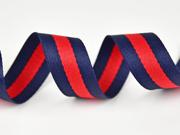 Gurtband Streifen 3 cm,navy rot navy