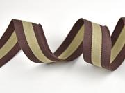 Ripsband Streifen 3 cm, braun beige braun