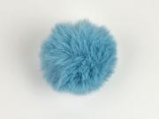 Kunstfellbommel Taschenanhänger 6 cm, rauchblau
