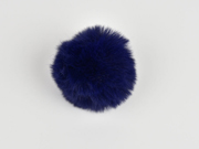 Kunstfellbommel Taschenanhänger 6 cm, marineblau