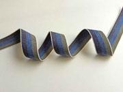 Webband Streifen 25 mm, khaki blau navy