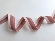 Webband Streifen 25 mm, rosa braun altrosa