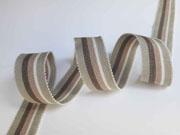 Ripsband Streifen 25 mm, taupe natur beige