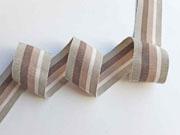 Ripsband Streifen 35 mm, taupe natur beige