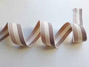 Webband Streifen 25 mm, beige natur taupe
