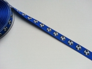 Ripsband Fussball 14mm - blau