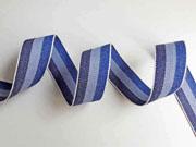 Webband Streifen 25 mm, blau hellblau dunkelblau