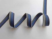 Webband Streifen 15 mm, khaki blau navy