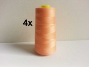 4 x 2743 m Overlock-Garn (3000 yds), lachsfarben 507