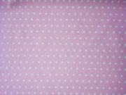 beschichtete Baumwolle Punkte 6mm, weiß rosa
