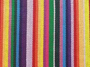 Mexiko Stoff Ethno Look Streifen Regenbogenfarben