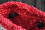 dicke Baumwollkordel 8 mm, schwarz