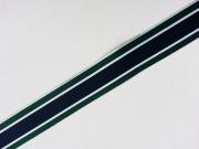 Gurtband Streifen 3 cm - navy,dunkelgrün,weiß