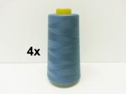 4 x 2743 m Overlock-Garn (3000 yds), jeansblau #237