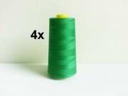 4 x 2743 m Overlock-Garn (3000 yds), grasgrün 874
