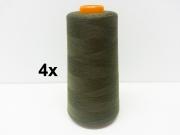4 x 2743 m Overlock-Garn (3000 yds), dunkel khaki #888
