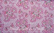 Baumwolle Popelin Ranken mit Blumen, rosa