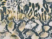 Wildleder Imitat Animal Print elastisch grün creme