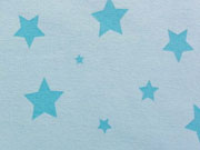 Sweat/Alpenfleece Sterne - hellblau m.türkis