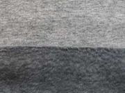 RESTSTÜCK 85 cm Sweatstoff Alpenfleece Uni Melange, grau