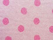 RESTSTÜCK 1m Alpenfleece Happy Dots rosa