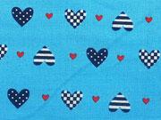 BW Little Sailor Herzen - türkis/dunkelblau