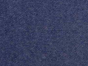 RESTSTÜCK 39 cm Sweatstoff Jeanslook uni angeraut, dunkelblau