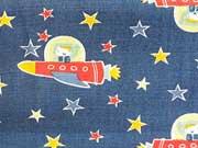 Astronauten & Raketen, dunkelblau