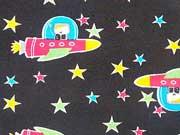 Astronauten & Raketen, schwarz