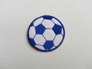 Aufbügler Fussball, 3.5 cm, blau-weiss