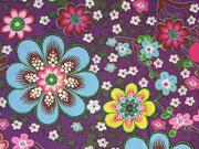 Baumwolle Blumen - lila