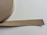 Gurtband Baumwolle 2,5 cm breit, taupe #45