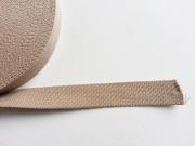 Gurtband Baumwolle 2,5 cm breit, dunkelbeige 41