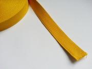 Gurtband - 2,5cm breit, senfgelb #52