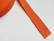 Gurtband Baumwolle 2,5 cm breit, orange #83