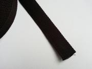 Gurtband Baumwolle 2,5 cm breit, dunkelbraun