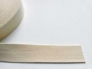 Gurtband Baumwolle 4 cm breit, natur 51