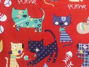 BW Katzen , Katzen, Katzen - rot