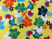 BW Kakadoo & Blumen, gelb