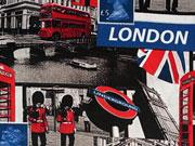 Baumwollstoff London Digitaldruck