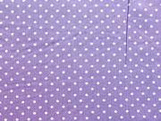 Popelin Pünktchen 2 mm, lila-weiß