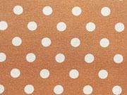Baumwollstoff Punkte 0,7 cm breit, weiß beige